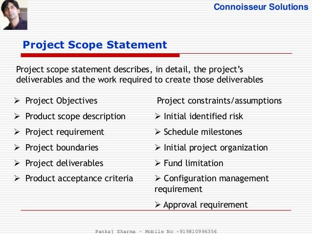 what is project scope document